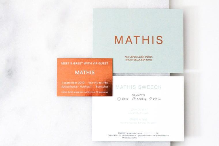 Geboortekaartje Mathis